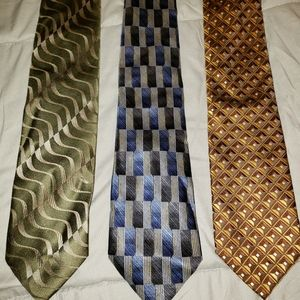 3 awesome Croft and Barrow mens ties